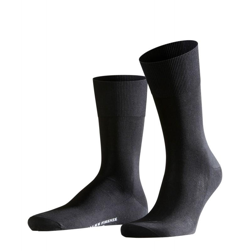 Μαύρη αντρική κάλτσα Falke Firenze από βαμβάκι μερσεριζέ
