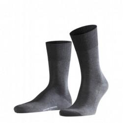 Σκούρα γκρί αντρική κάλτσα Falke Firenze από βαμβάκι μερσεριζέ