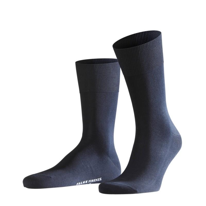 Σκούρα μπλε αντρική κάλτσα Falke Firenze από βαμβάκι μερσεριζέ